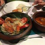 Look at those huge prawns. Very tasty.
