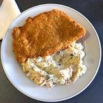 schnitzel w/ potato salad