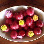 special red eggs for Easter (only once a year), do spend Greek Orthodox Easter week on Hydra