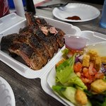 Ribs and side of salad