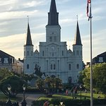 A view of the St. Louis Cathedral taken from Jackson Square