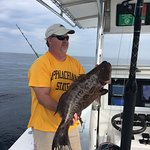 Nice scamp grouper from the trip with Oak Island Fishing Charters.