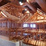 五十間長屋内の城の模型