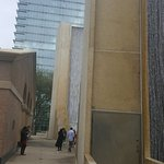 The 64-feet high Water Wall and 64-Story William Tower.