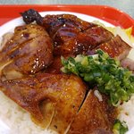 Soya Chicken and Barbecue Duck on rice #28