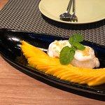 Beautiful mango sticky rice
