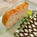 Complimentary focaccia bread