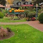 Pumpkin cart at Yankee Candle