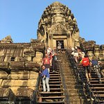 me climbing down the angkor steps from 3rd tier