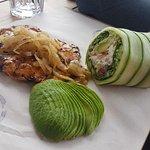 chicken prego with salad