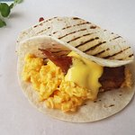 bacon and egg wrap