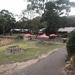 Aussies have Dinner At The Quarry Restaurant Halls Gap