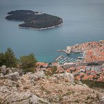 The view of Dubrovnik from the top.