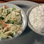 sides of cole slaw & cottage cheese