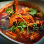 Tom Yum Goong - ต้มยํากุ้ง. THB 490++ • • Thailand's famous clear hot and sour soup of white sea