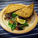 our famous fishfinger sandwich