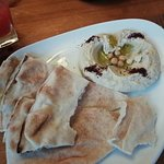 Hummus and flat bread