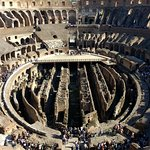 From the top floor of the Colosseum, away from the crowds.
