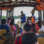 Sitting on the ferry which cruise along the Mekong Delta