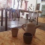 Hand thrown pottery.