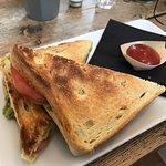 Good breakfast sandwich.