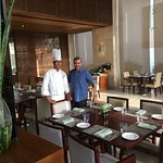With Junior Sous Chef Ranjeet Singh