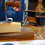 Lovely cheese and wine tasting