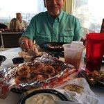 Our wonderful dinner on the ocean! Joe, husband of the century!