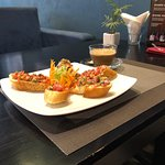 Visit #2 to Downtown Cafe—-Delicious & Mildly Spicy Bruschetta