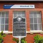 Historic Marker at Marshall Depot