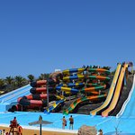 The main slides and pools