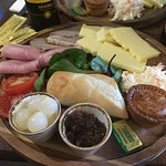 Lovely ploughman's lunch.