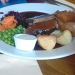 Sunday lunch roast beef - beef was tough, but Yorkshire pudding nice and light