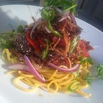 Duck Stir Fry with Egg Noodles
