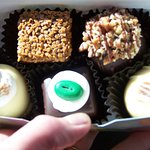 5 Pc Box of the Best: dark choc espresso, Chipmunk treasure, Banana Cream, kahlua, and Deadwood