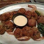 My stuffed shrimp. It was as bad as it looks.