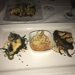 Surf and Turf Trio - Chilean Sea Bass, Lobster Ravioli and Filet