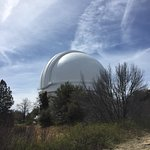 "Palomar Observatory houses the 200"" Hale Telescope with three smaller telescopes flanking the Ha"