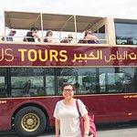 My photo souvenir at Abu Dhabi Big Bus Tout