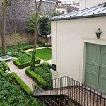 Atelier and garden.
