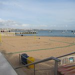 Volleyball area on the beach
