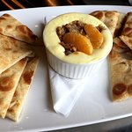 Brie dip with tangerine and candied walnuts