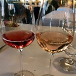 Two different rose wines