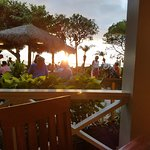 Sunset from seat at Hula Grill