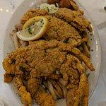 Fried soft shelled crab platter