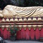 The biggest sleeping Buddha statue around there