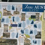 A beautiful postcard sharing the map of time in Bath