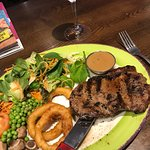 Perfect steak as always served quickly friendly staff nothing too much bother for them always wi
