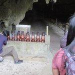 Lanterns to use to visit the cave sacred to men