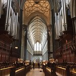 Inside Salisbury cathedral with choir